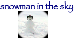 Snowman in the Sky